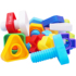 Toy building blocks assembling baby twisting and twisting assembling children's hands-on ability puzzle 1 year old screw nut screw