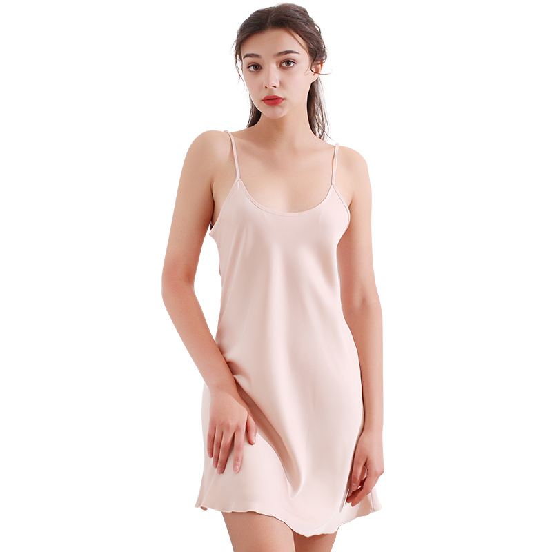 上海故事性感睡衣女夏季冰丝薄款吊带裙睡裙仿真丝高档女士家居服