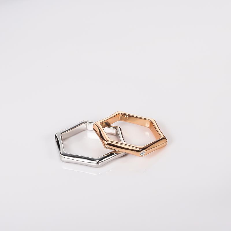 官方正品同款戒指男女情侣六角形六边小众设计免费刻字