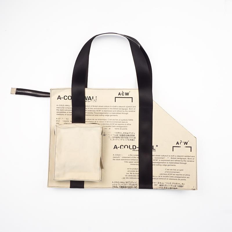 INS 新品工业 19SS 托特包旅行袋 LOGO 大号涂鸦满印 ACW 冷墙 47slab