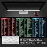 Mouse pad thickening office ps ppt excel cad commonly used keyboard shortcuts oversized mouse pad mat table mat
