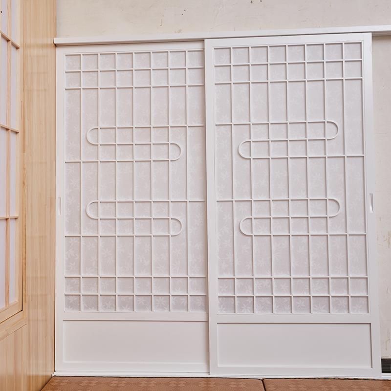 扇形障子门日式移门榻榻米门圆月格子门推拉门日式格子窗隔断门窗