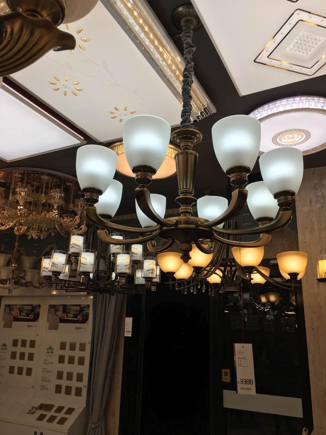 厅餐厅卧室灯多头可选择 骑士