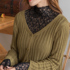 Spring and autumn lace bottoming shirt female super fairy with long-sleeved fashionable western-style sexy blouse hollow see-through net gauze