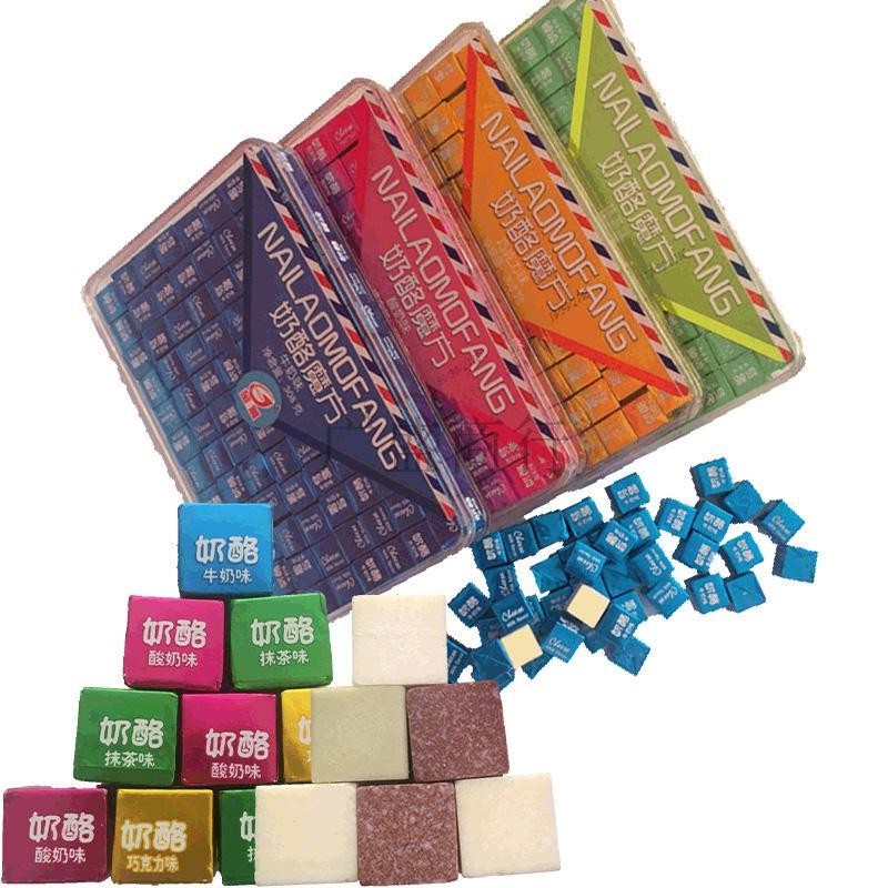 金箭奶酪魔方糖果308g盒装儿童孕妇干吃高钙酸奶片特产奶贝疙瘩