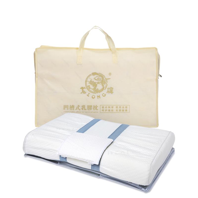 呵护颈椎专用枕头 凹槽式揉按乳胶枕 枕 龙牌保健枕 龙氏颈椎枕