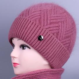 中老年人冬天帽子女加绒保暖奶奶棉帽冬季妈妈针织毛线帽老太太帽