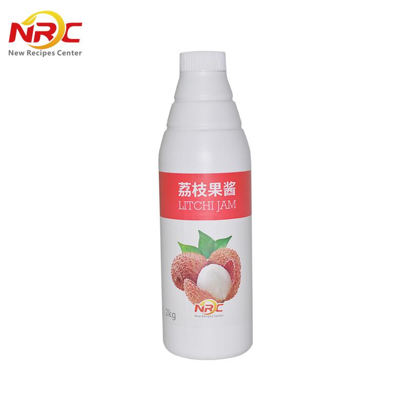 NRC荔枝味果酱饮料浓缩汁果蔬汁果味奶茶冲饮饮料浓浆1.2kg