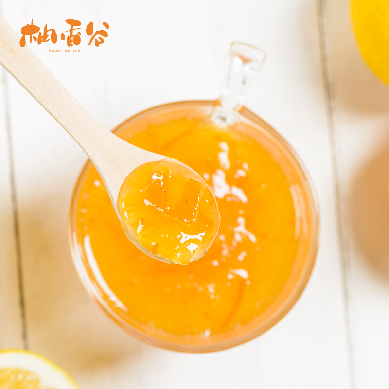 柚香谷蜂蜜柚子茶500g冷冲热泡水果花茶饮料冲调果酱