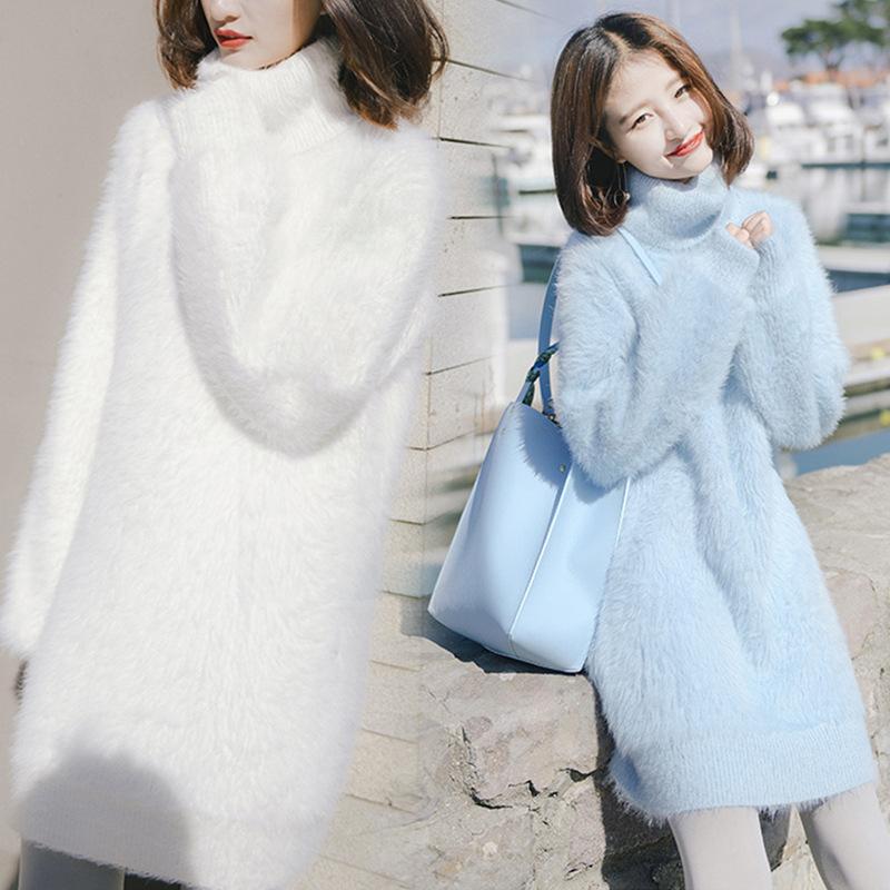 2020秋冬新款高领水貂绒,水貂绒的材质更贴合皮肤
