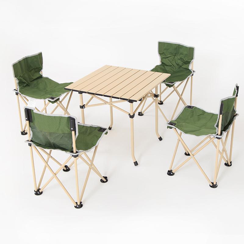 件套露营野营野餐烧烤自驾游车载桌椅 7 5 户外折叠桌椅套装便携式
