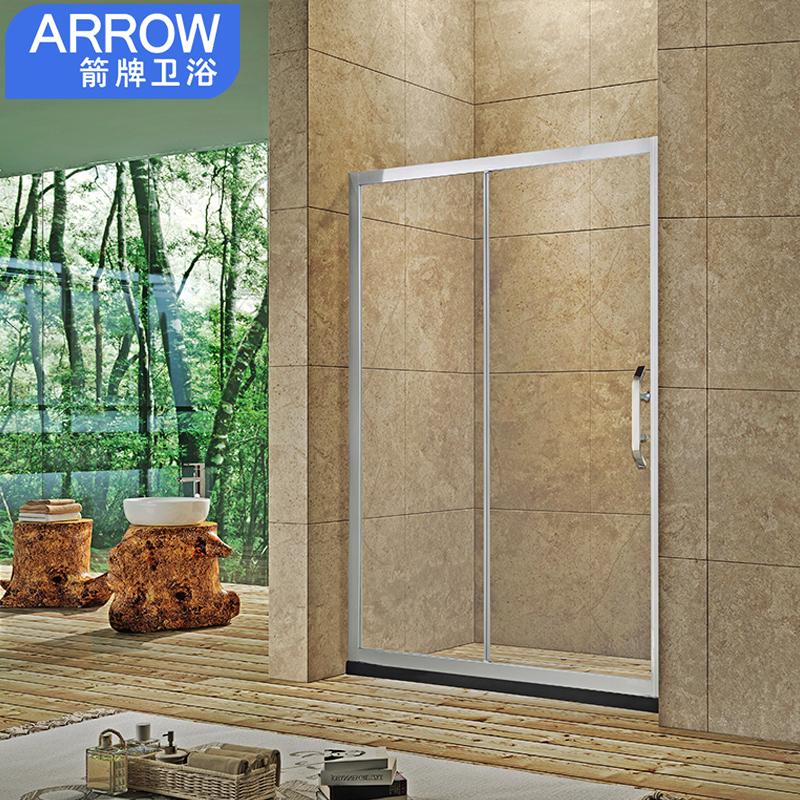 箭牌整体淋浴房定制一字形隔断简易浴室卫生间干湿分离玻璃门家用