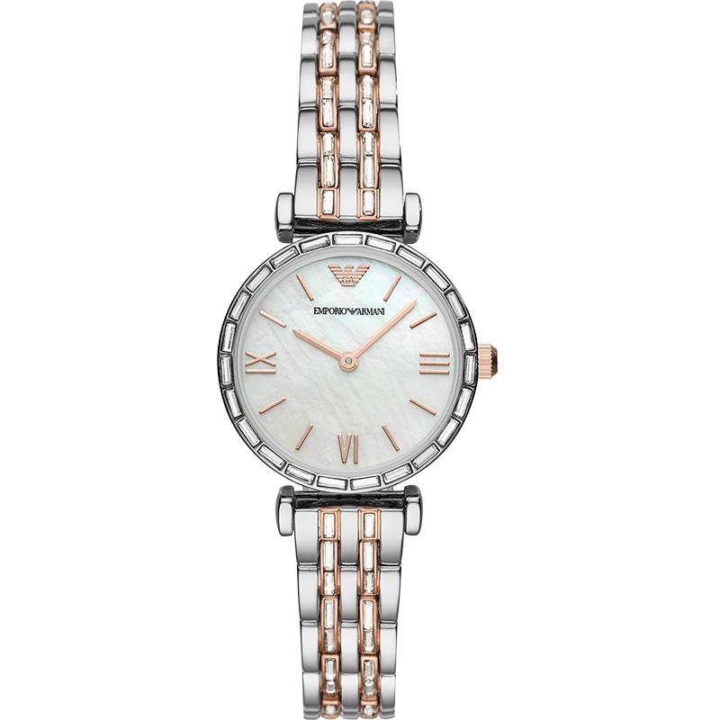 Armani阿玛尼官方旗舰店正品简约气质 时尚名牌钢带手表女AR11290