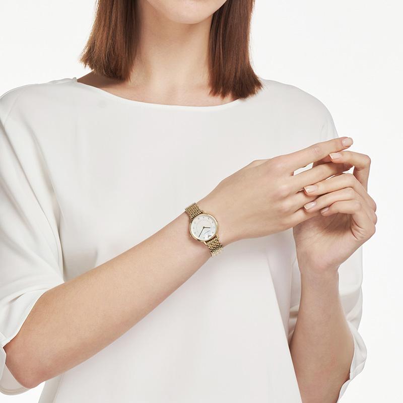 【正品】Armani阿玛尼正品新款简约金色摩天轮手表女AR11007