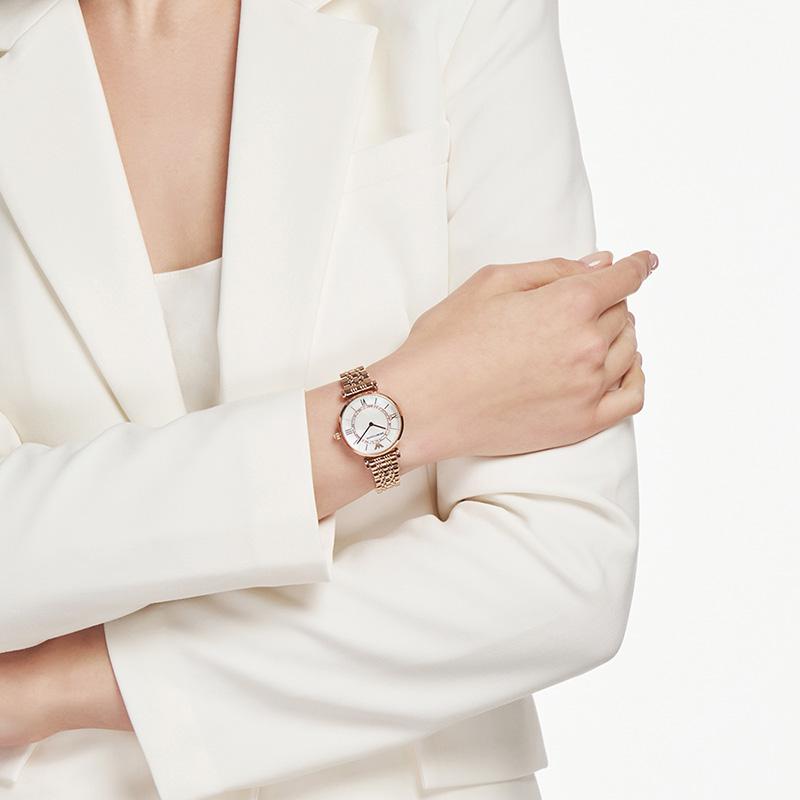 【官方】Armani阿玛尼正品气质满天星 简约时尚钢带手表女AR1909