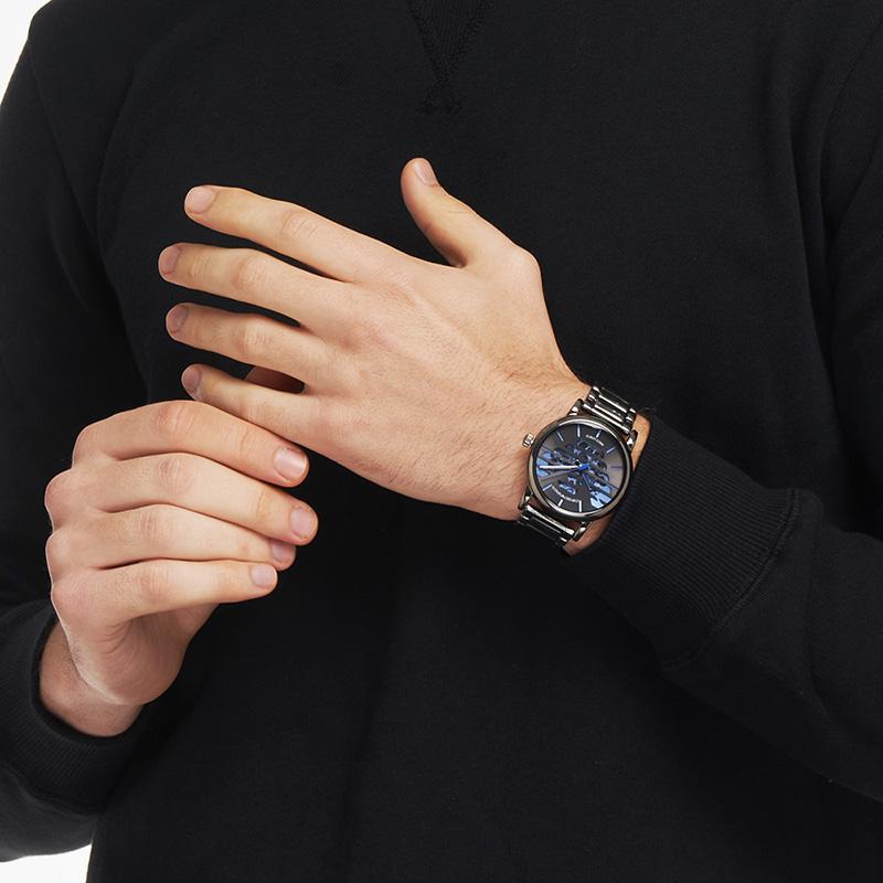 Armani阿玛尼官方正品机械表男 时尚LOGO大表盘男士手表AR60029