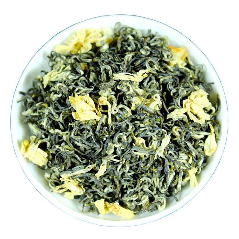 500g 新茶碧潭特级浓香型散装茶叶 2019 四川蒙顶山茶 飘雪茉莉花茶