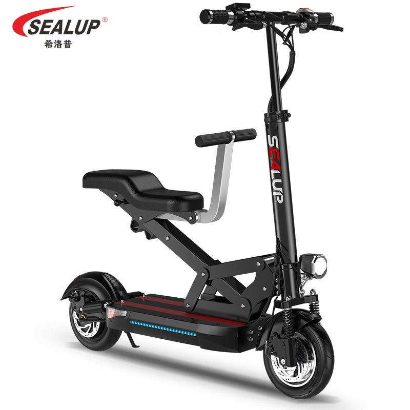希洛普电动滑板车折叠代步小型电瓶车迷你锂电池代驾车双人亲子车