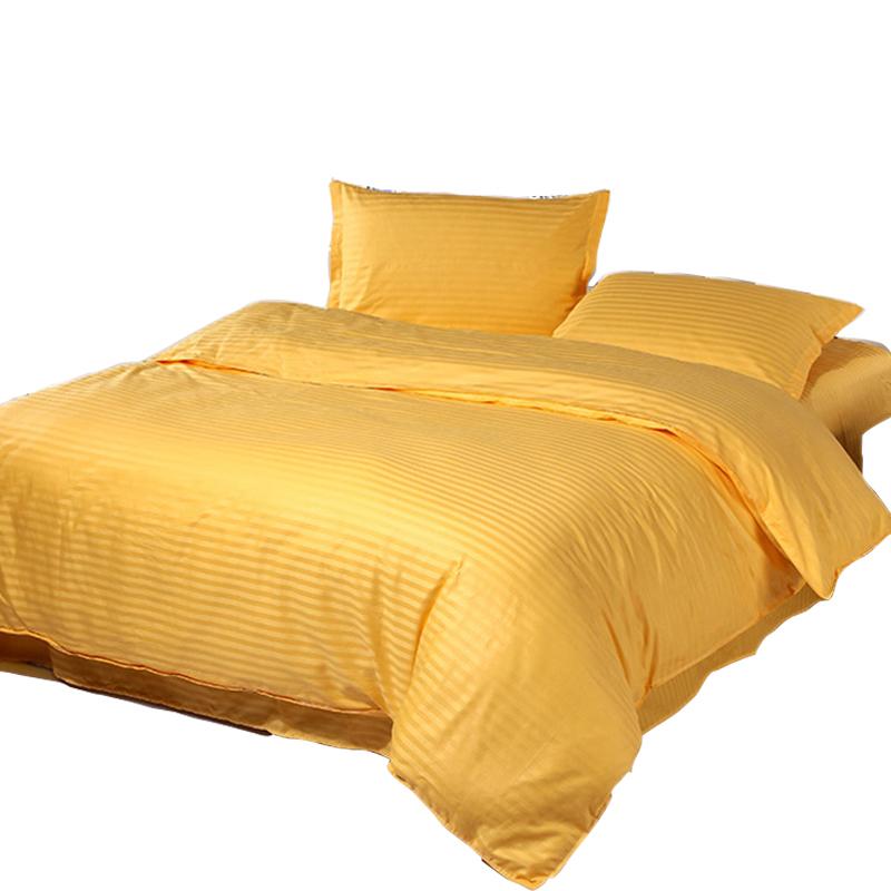 黄金色欧美风金黄色土豪金礼品床上用品床单四件套全棉料纯棉布料