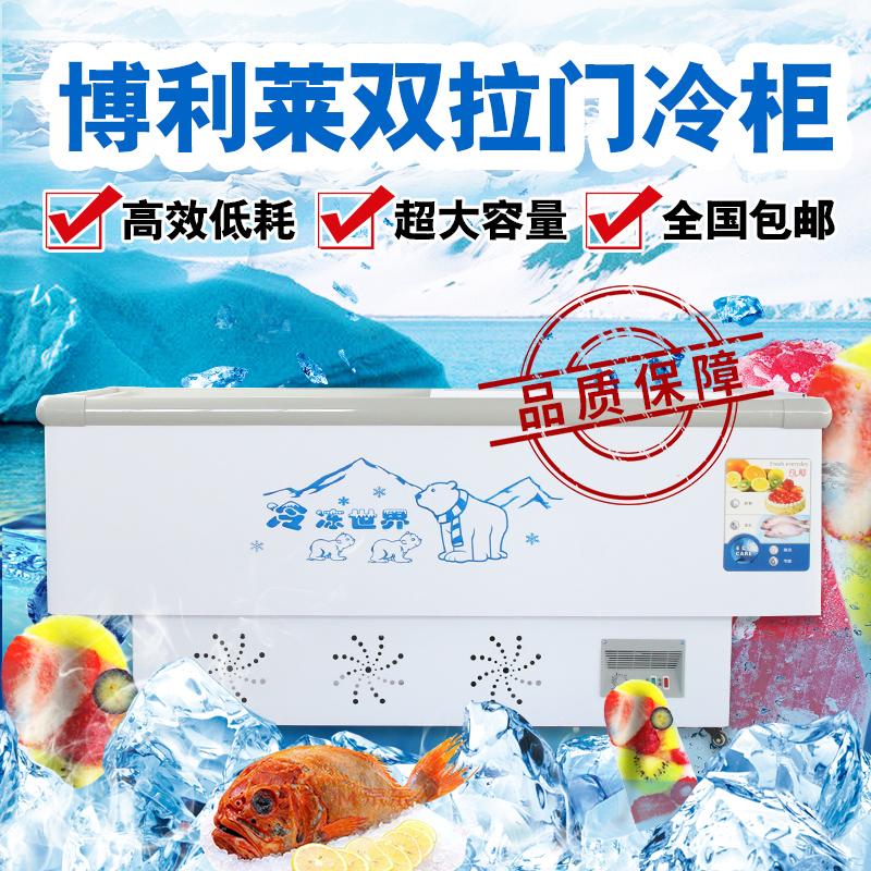米铜管冰柜商用卧式大容量展示柜冷藏冷冻柜玻璃门岛柜 2.5 博利莱