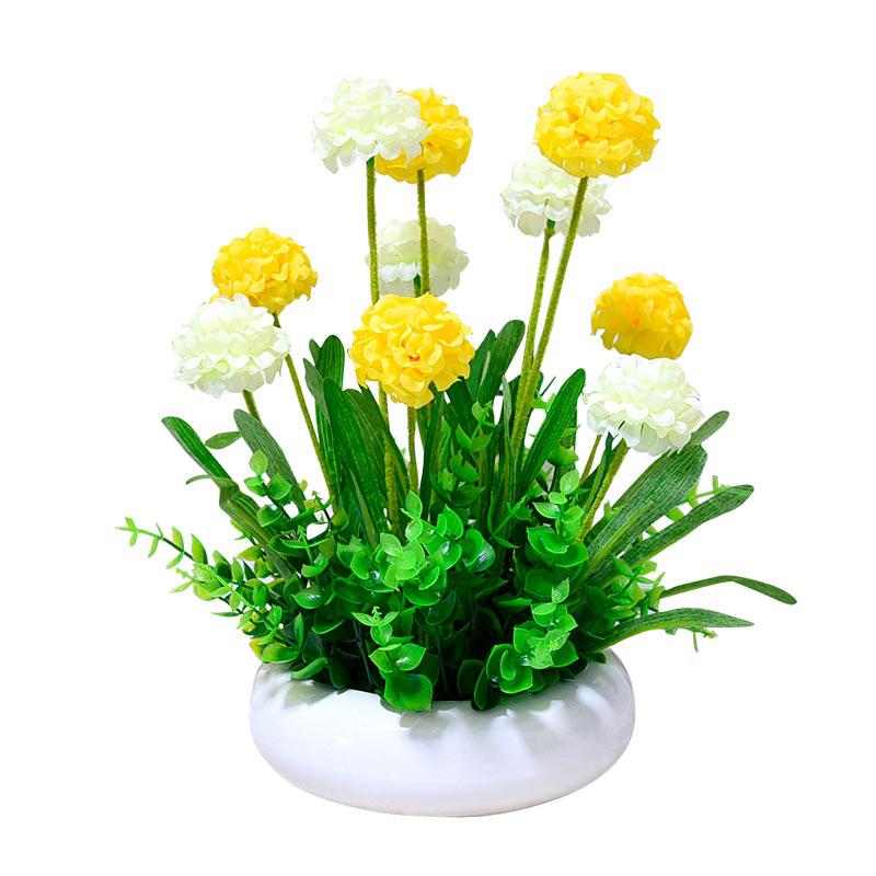 仿真装饰绢花盆景家居摆设假花摆件套装客厅薰衣草球盆栽热销包邮