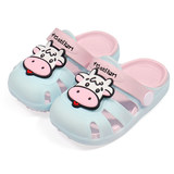Baby slippers summer 1-3 years old 2 boys and girls indoor non-slip silicone soft bottom hole shoes small children infant sandals