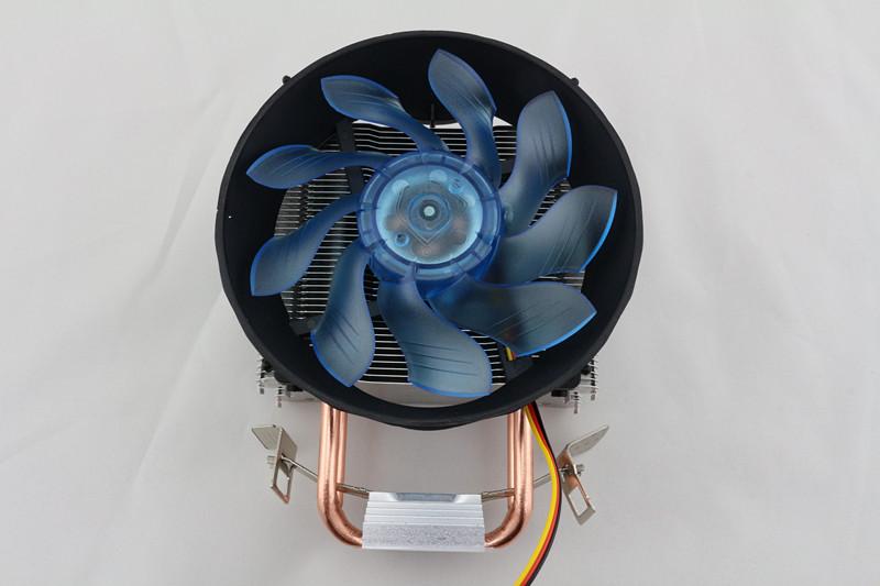 狂风 双铜管CPU散热器 塔式发光风扇 多平台式电脑风扇配件