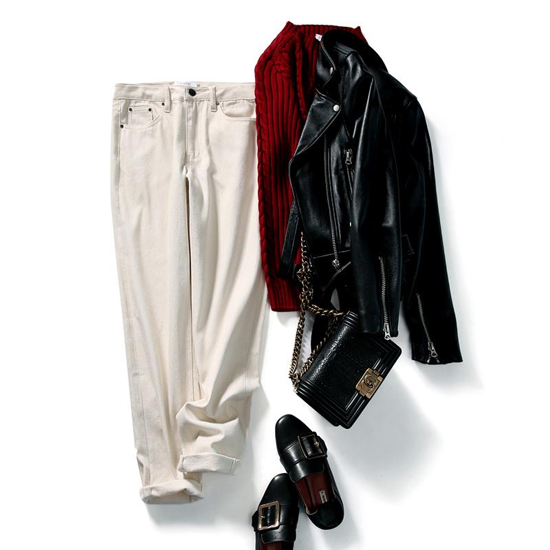 加厚内磨毛自然风格天然棉籽壳无染色牛仔裤 KZ1010362 ^戎美 ^