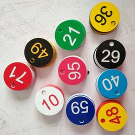 数字号码牌寄存牌洗浴编号钥匙牌桑拿线圈塑料手牌100个包邮28元