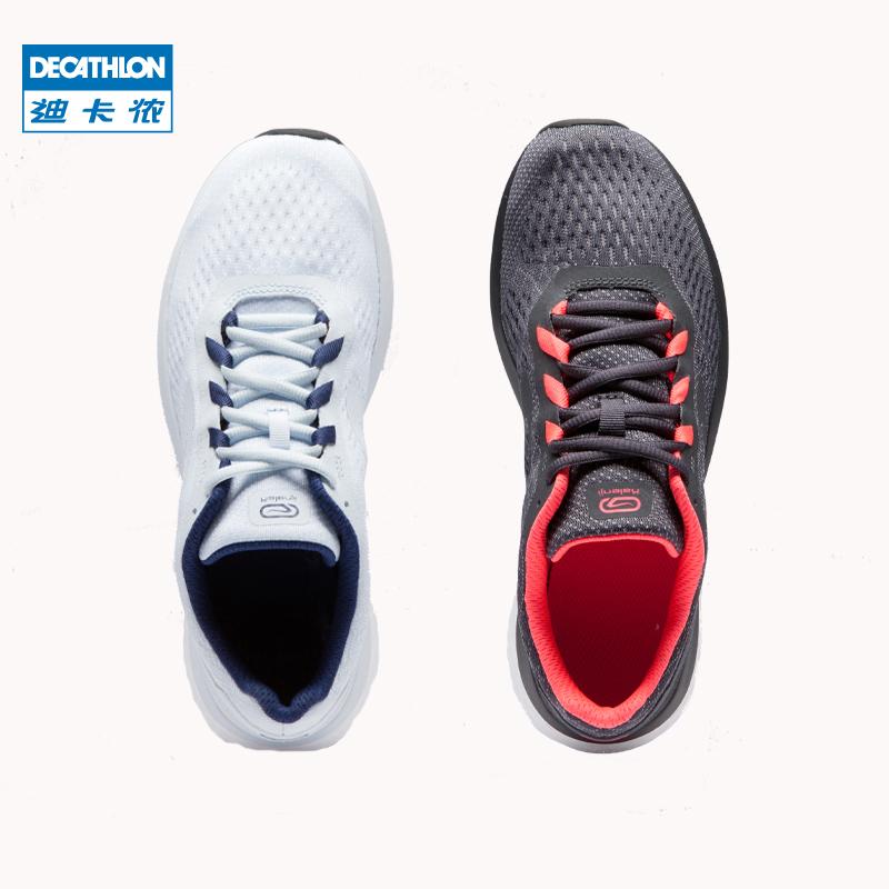 迪卡侬软底运动鞋女春夏轻便网面透气减震跑鞋舒适弹力跑步鞋RUNS