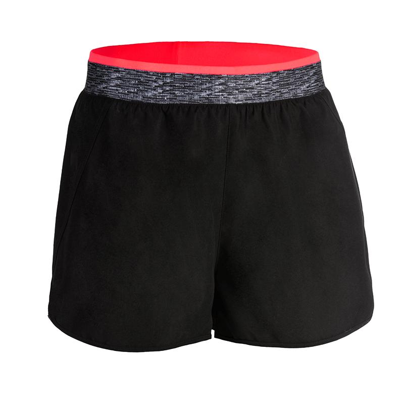 迪卡侬运动短裤女秋冬新款跑步瑜伽健身宽松速干弹力运动裤短FICW