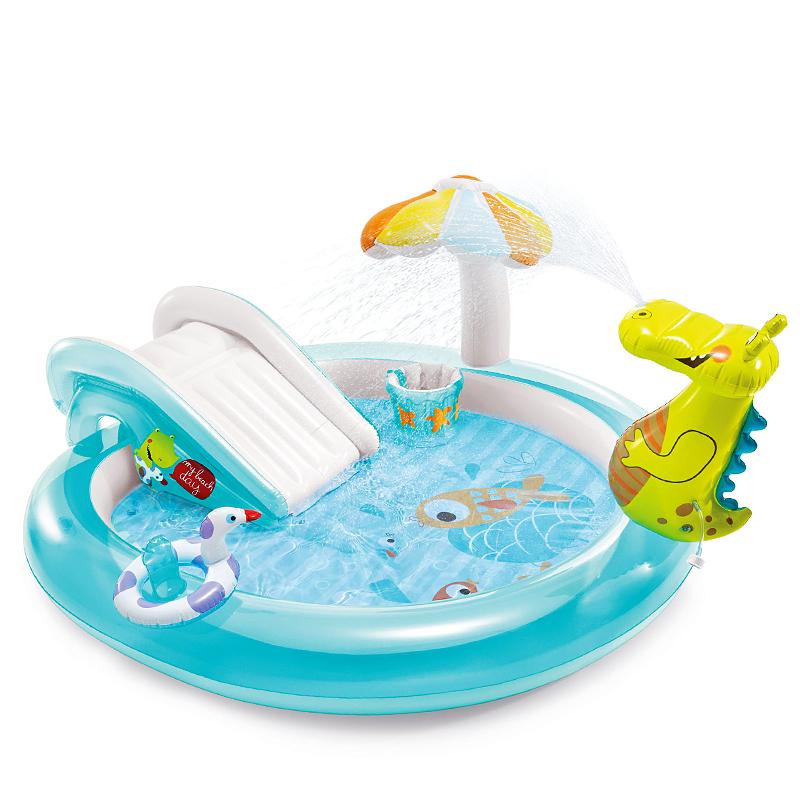 INTEX婴儿童充气游泳池家庭大号海洋球池沙池家用宝宝喷水戏水池【图2】