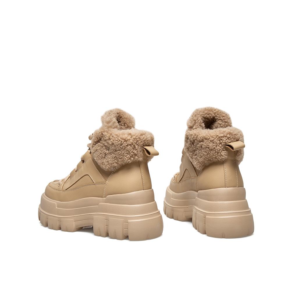 AZ421DD0 冬新款商场同款厚底酷感休闲靴厚底 2020 天美意短靴女加绒