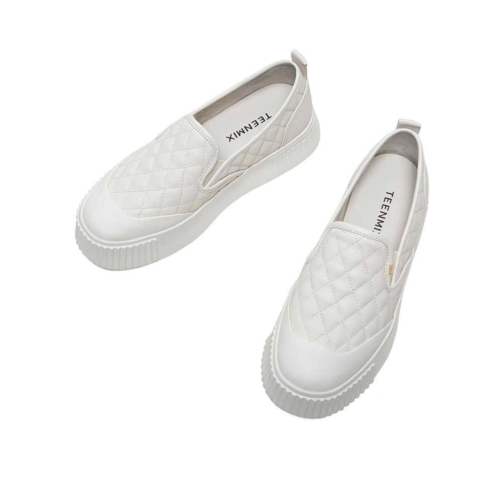 CX522CM0 秋新款时尚休闲松糕厚底小白鞋 2020 天美意懒人鞋一脚蹬女