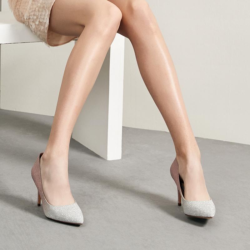 FGG14AQ9 春款新专柜同款尖头复古细高跟休闲女单鞋 2019 他她 Tata