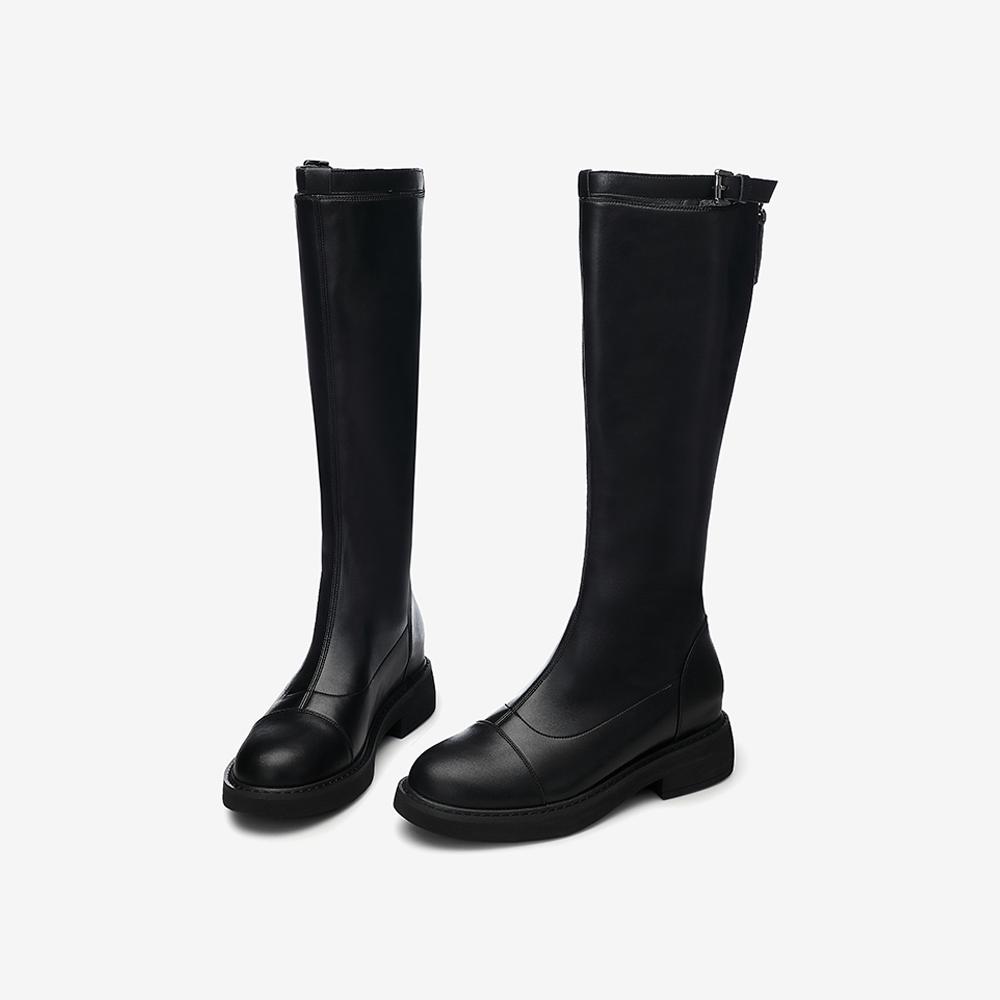 WTH02DG0 冬专柜同款新品英伦高跟骑士瘦瘦靴女长靴 2020 他她 Tata