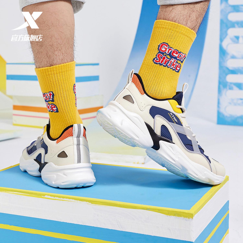 特步男鞋运动鞋男夏季男士休闲鞋透气2021新款轻便老爹鞋男潮鞋子
