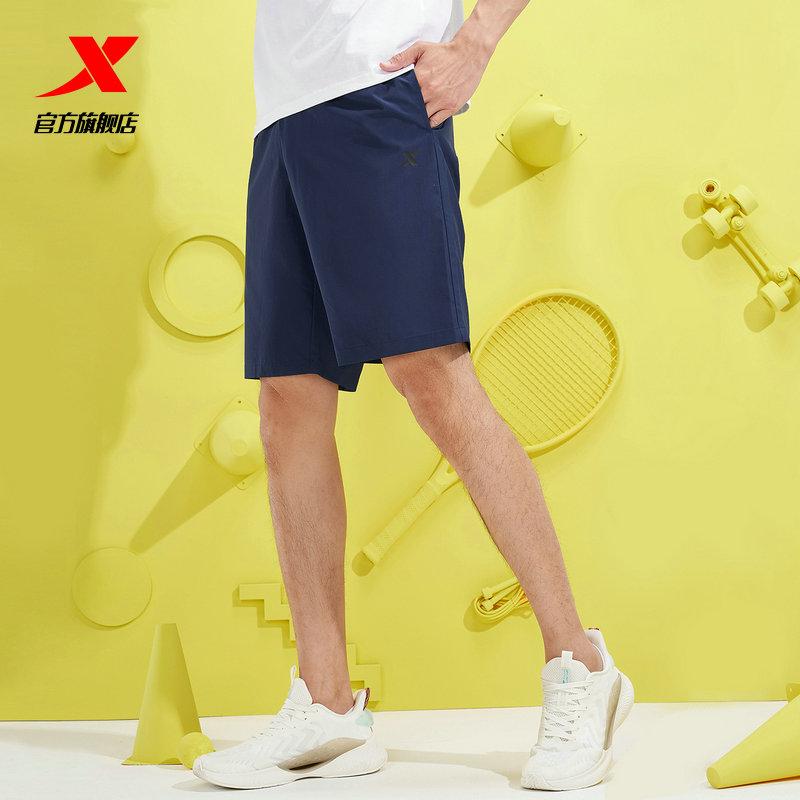 特步运动短裤男五分裤2021夏季宽松薄款男士速干跑步健身短裤男裤主图