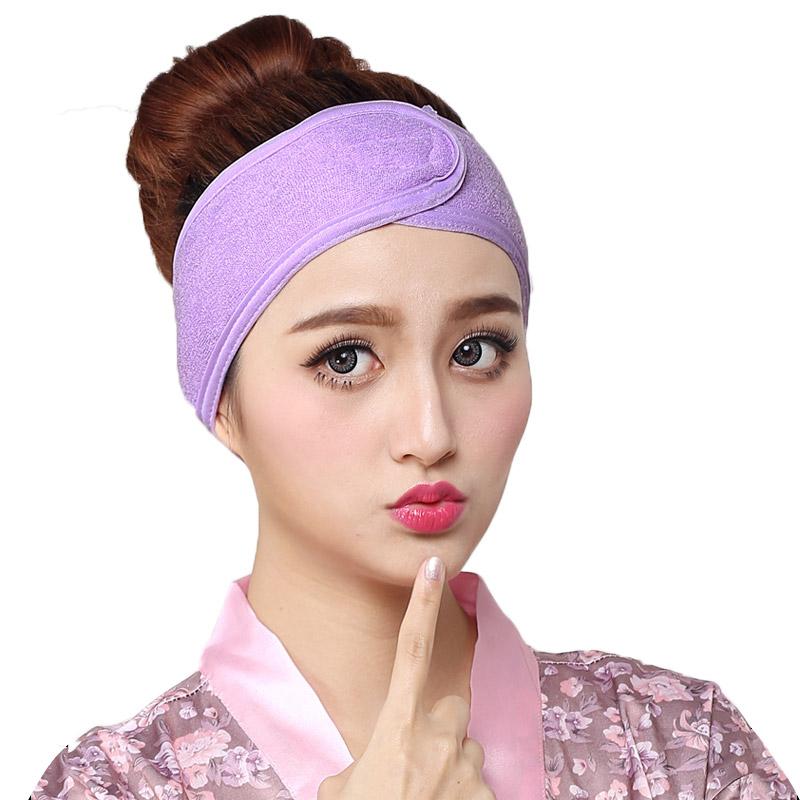 洗脸发带化妆时用的束发带女头饰百搭魔术贴面膜发套美容院包头巾