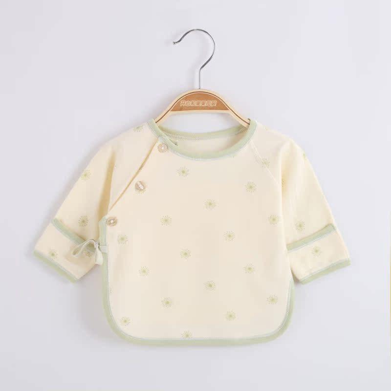 春秋初生婴儿衣服宝宝内衣纯棉半背上衣0-3 个月新生儿睡衣春季