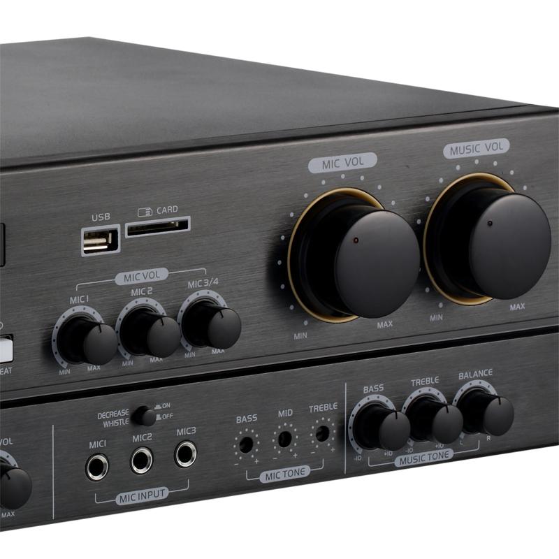Yacare/雅桥 KT4580 家用蓝牙功放音响KTV套装家庭卡拉OK设备音箱