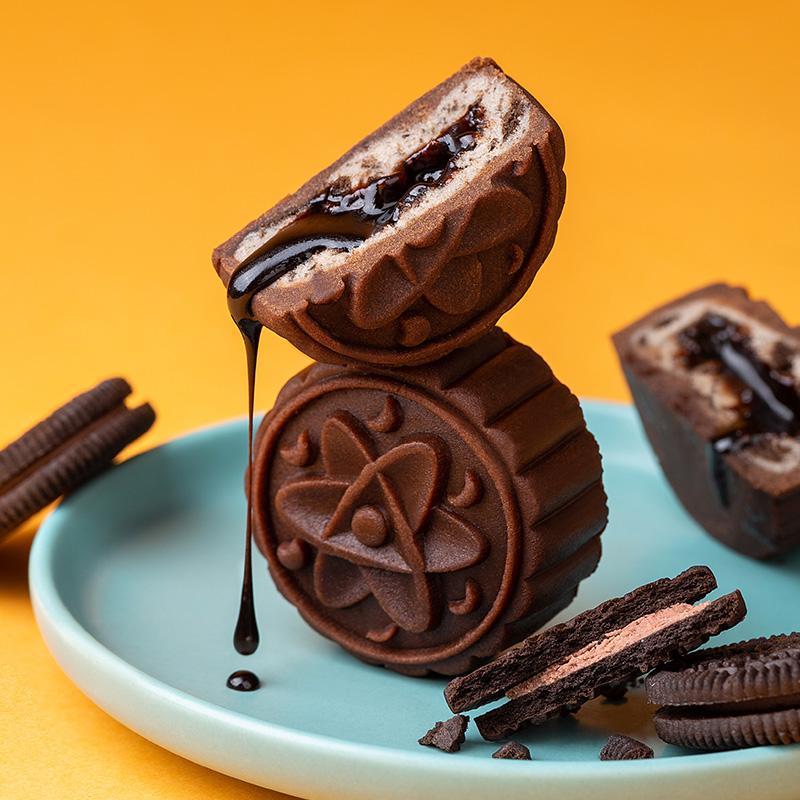 流心奶黄月饼5饼5味传统糕点点心甜点茶点休闲零食小吃散装多口味