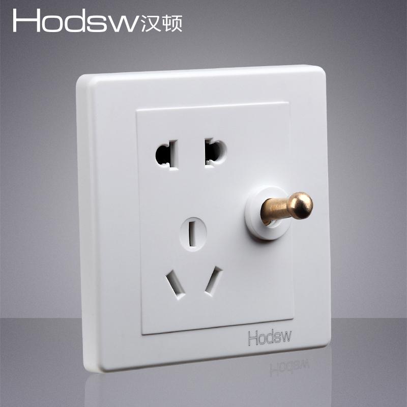 型 86 美式风复古仿古老式开关电源插座面板套餐 BE 汉顿白色 HODSW