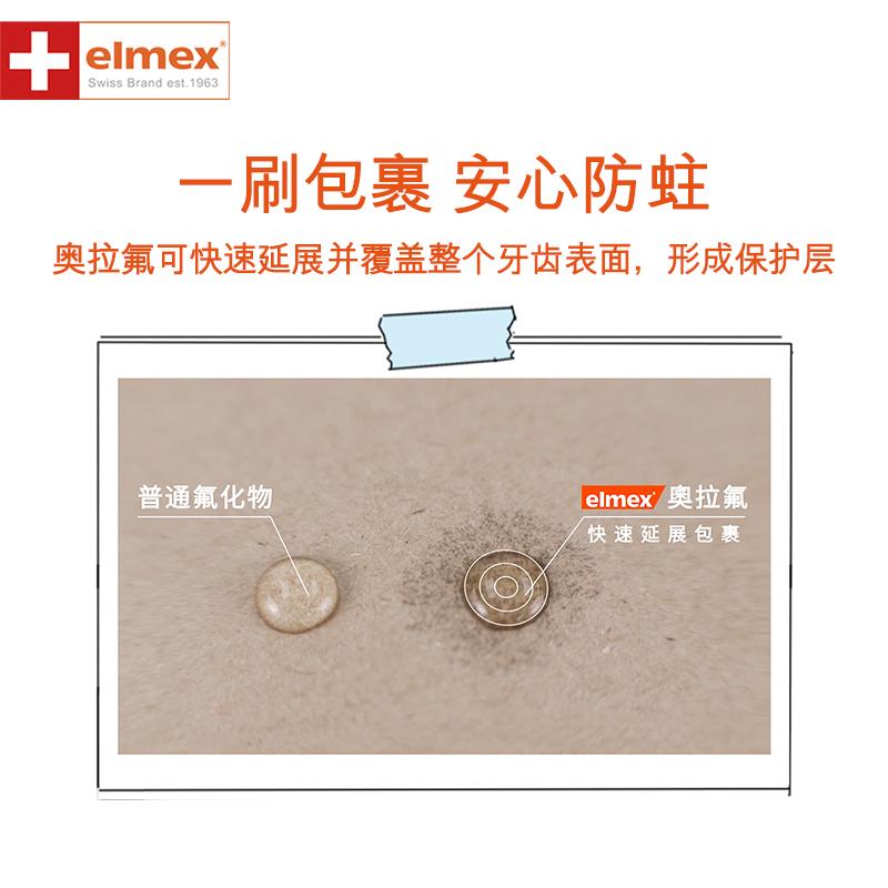 elmex含氟儿童牙膏0-6-12岁温和可吞咽防蛀牙龋齿换牙期50ml*2