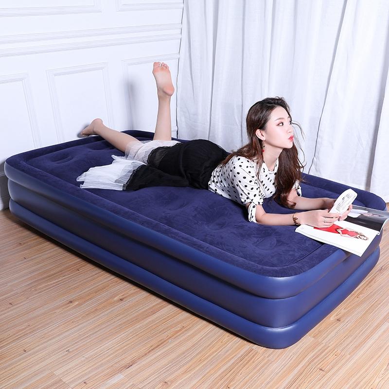双层单人充气床垫家用户外便携可收纳折叠床抖音 PVC 植绒 BEAUTRIP