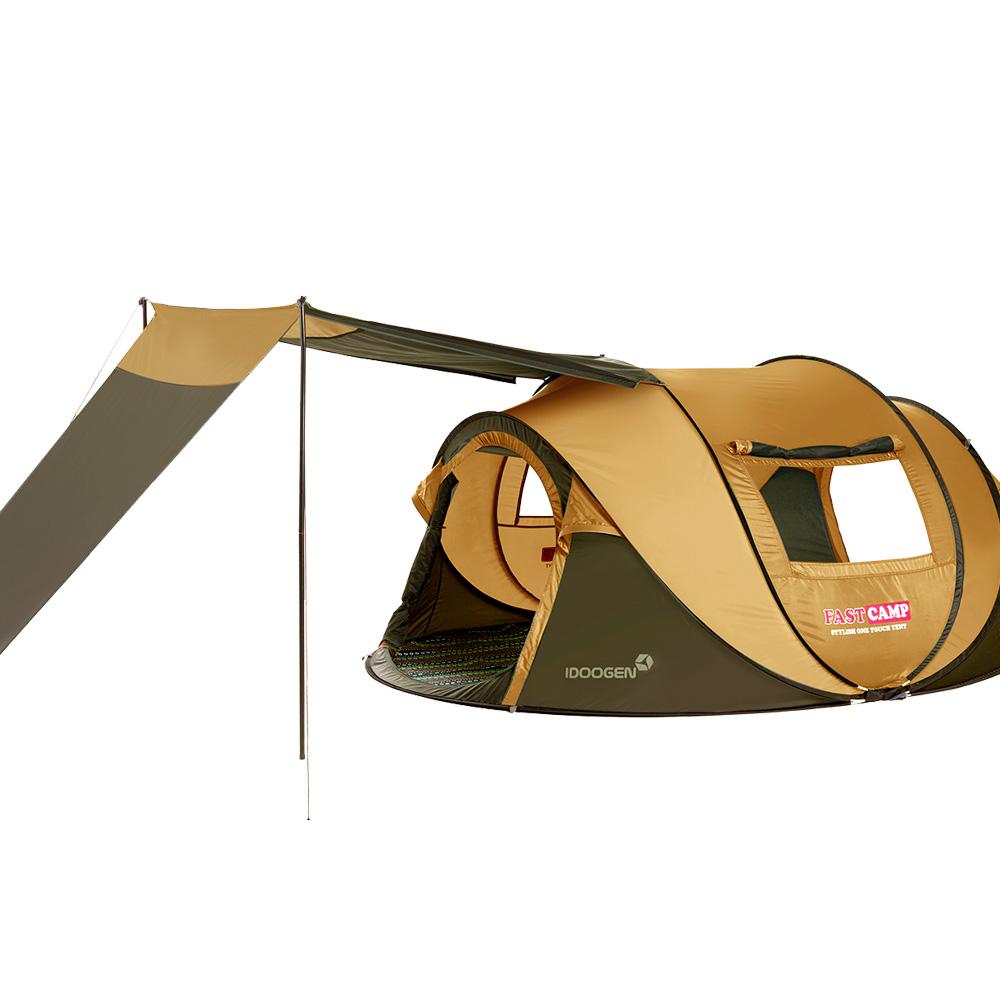 户外防风雨露野营免搭建公园自动多人帐篷 天幕大家庭 FASTCAMP