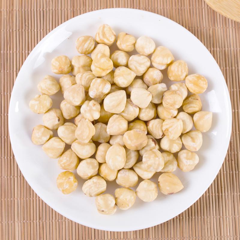 新货土耳其原味熟去壳脱皮榛子仁新鲜榛子坚果500g特价孕妇零食
