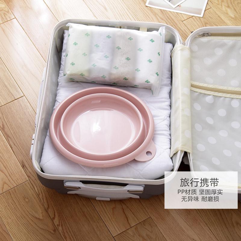 可折叠脸盆儿童户外旅行塑料洗脸盆便携式旅游压缩水盆加厚洗衣盆
