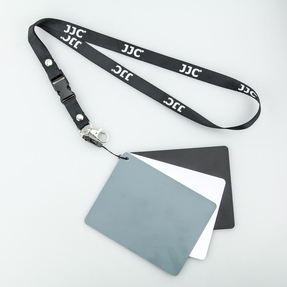 JJC 中号18度灰卡 白平衡卡 摄影灰板 黑白灰三色防水防刮中灰板