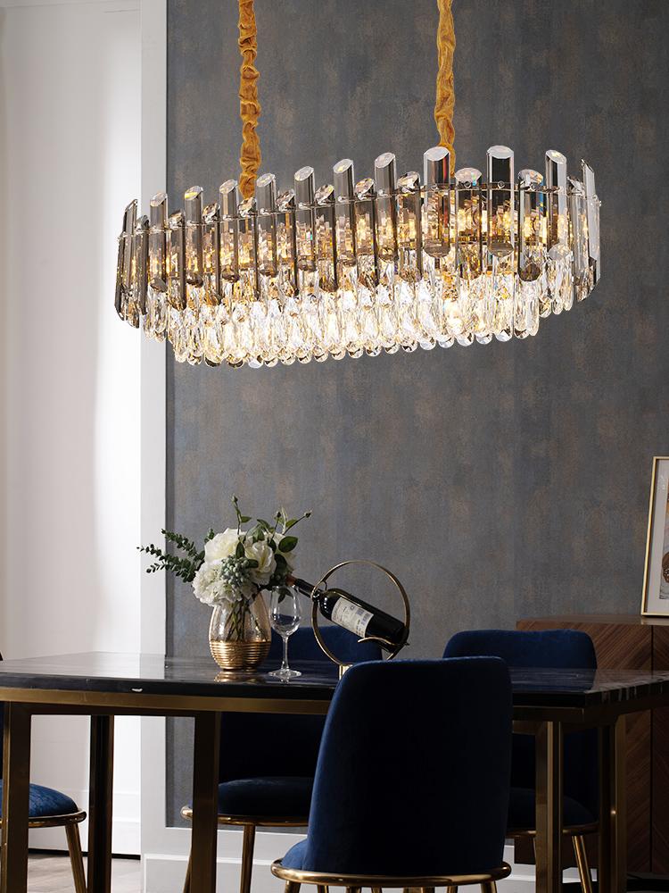 年美式新款灯具 2021 后现代客厅轻奢水晶吊灯简约奢华大气餐厅卧室